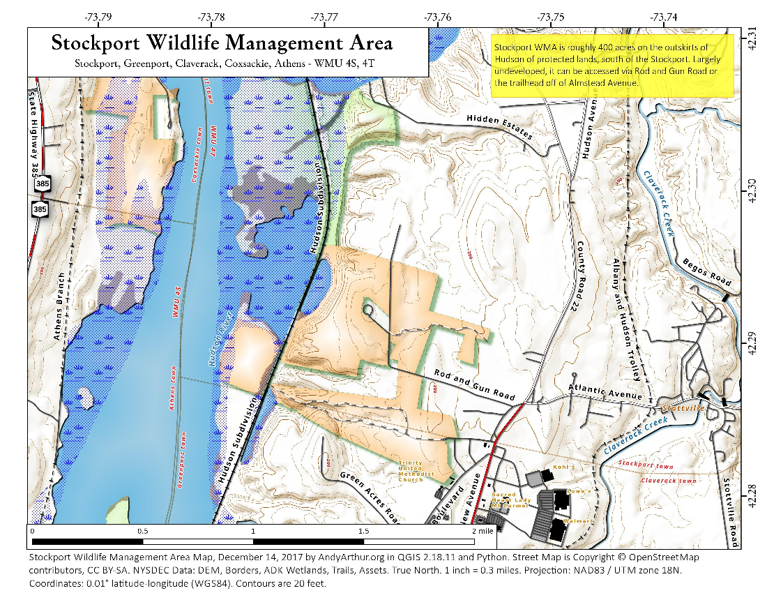 Map: Stockport Wildlife Management Area