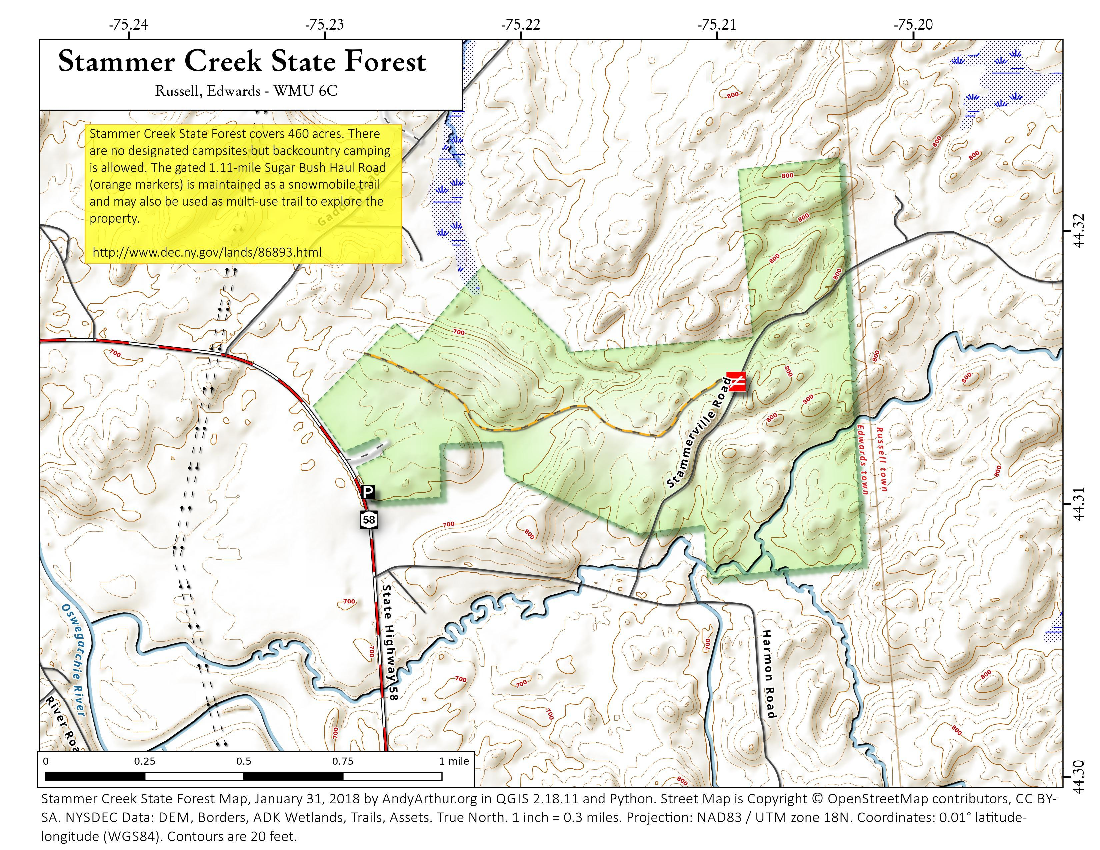 Map: Stammer Creek State Forest
