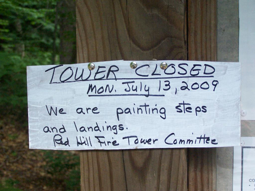 Photo: Tower Closed