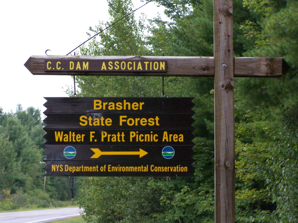 Photo: Brasher Falls Sign