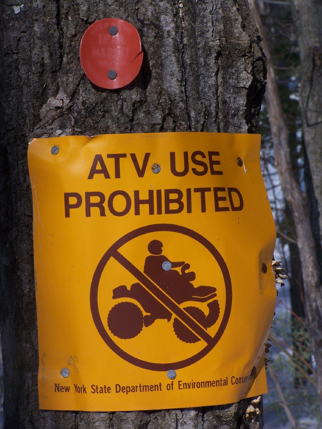 Photo: ATV Use Prohibited
