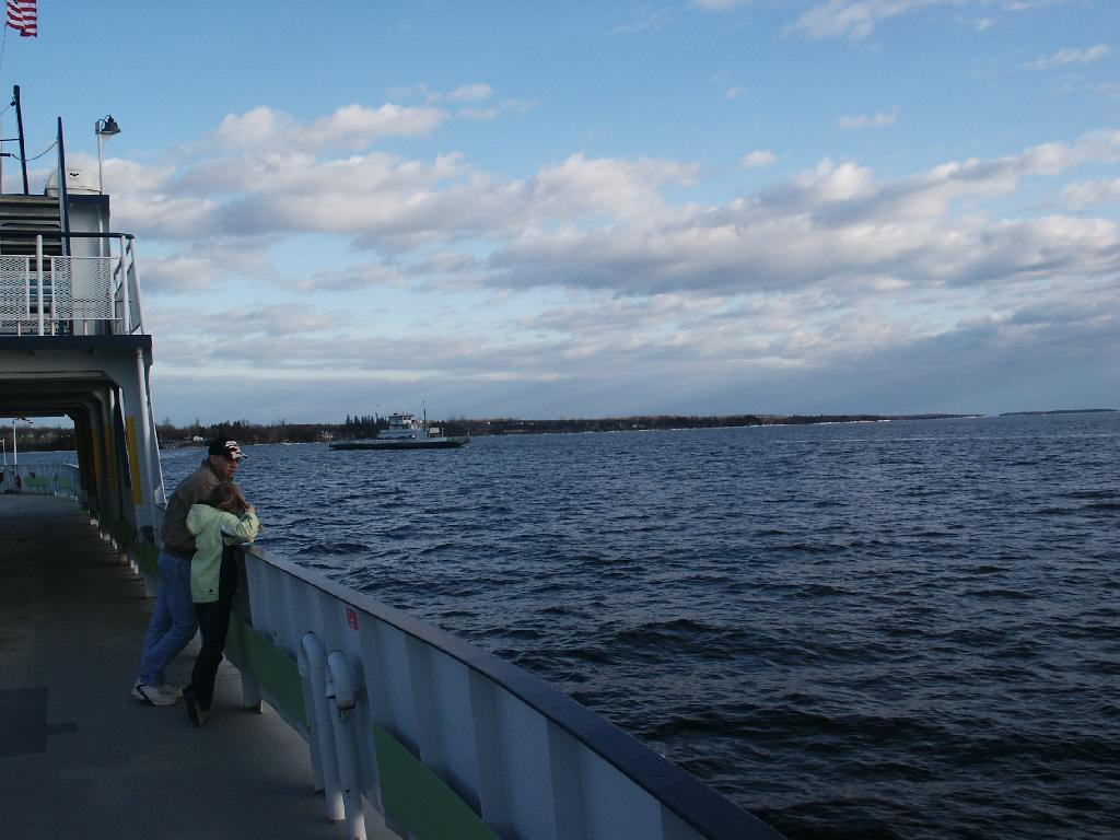 Photo: Riding on the Ferry