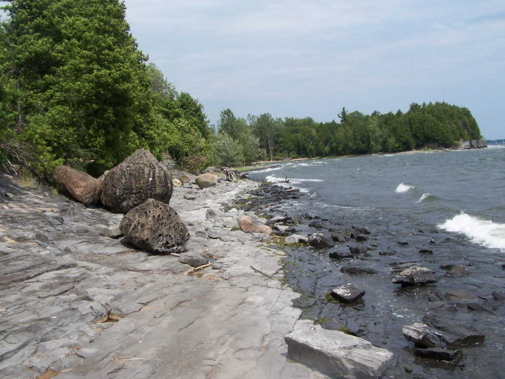 Photo: Rocky Shore of Connors Bay