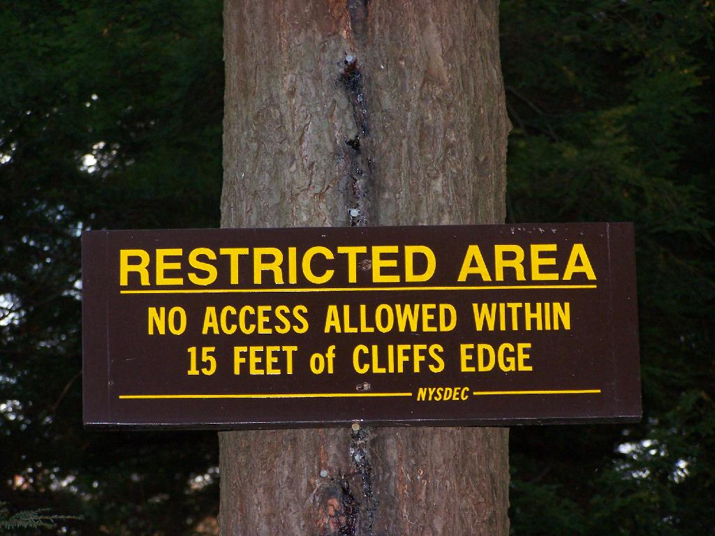 Photo: Restricted Area