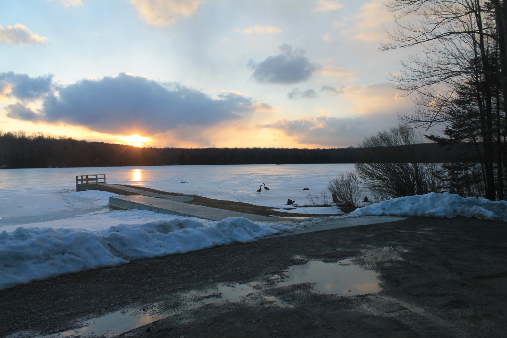 Photo: Setting Sun Over Boat Dock