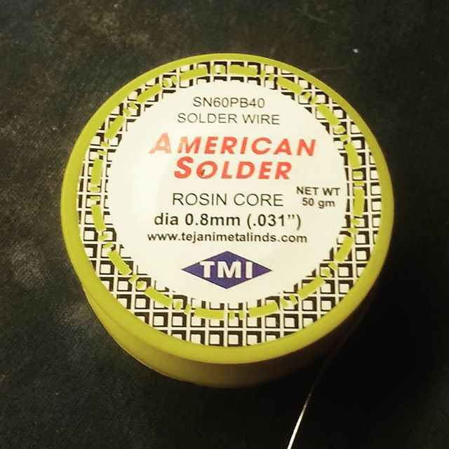 Photo: 'merican Solder. The LEAD stuff that sticks and flows properly.