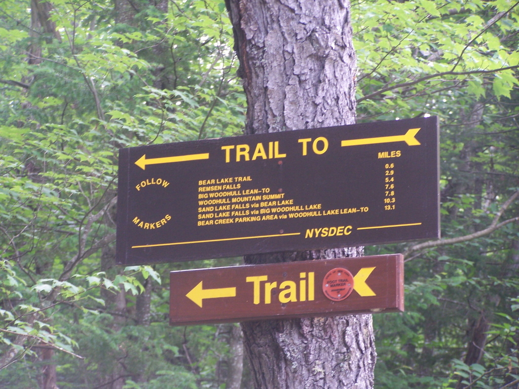 Photo: Old Railroad Bed Trail Sign
