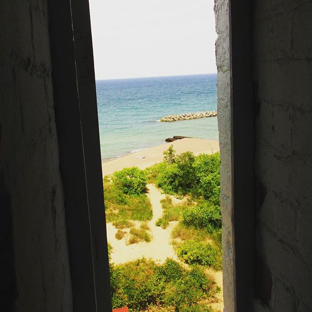 Photo: Lighthouse Stairway Window