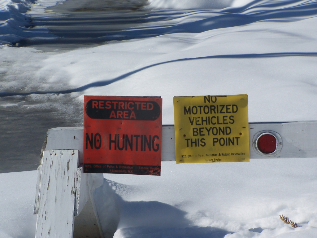 Photo: No Hunting Zone of Taghkonic State Park