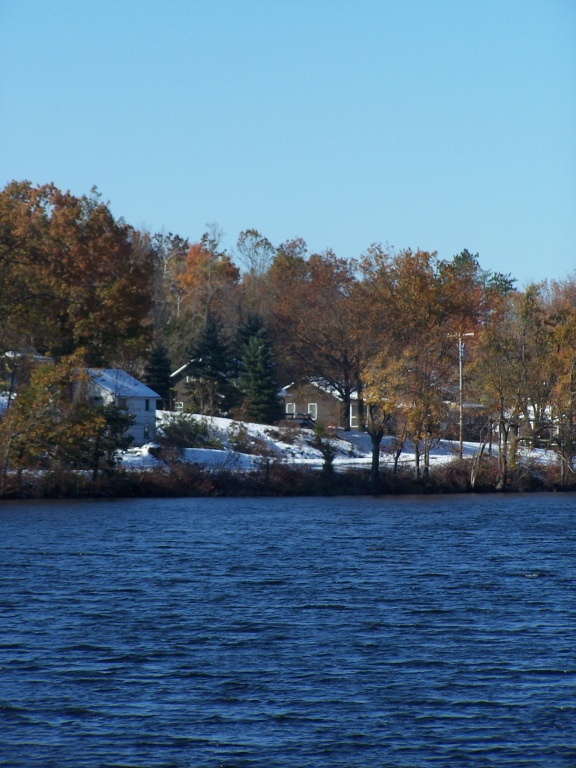 Photo: Cottages as Seen Across Lake