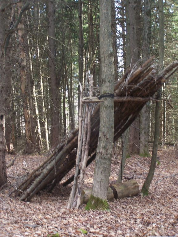Photo: Hand Made Shelter on Elm Ridge