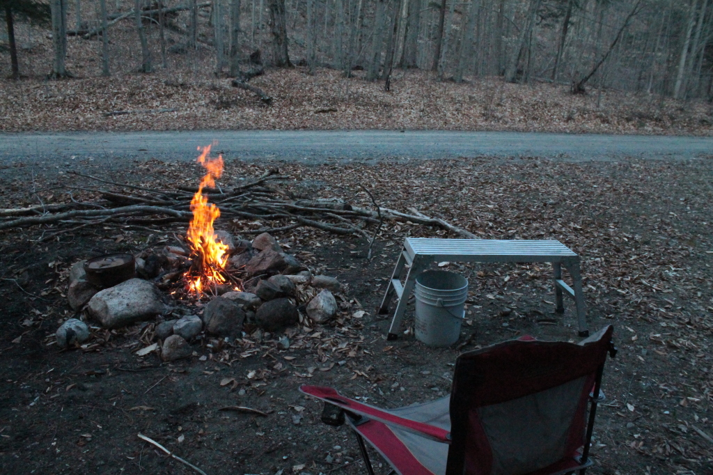 Photo: Roadside Camping