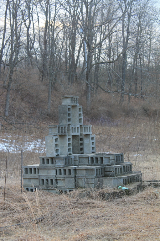 Photo: Stack of Cinderblocks