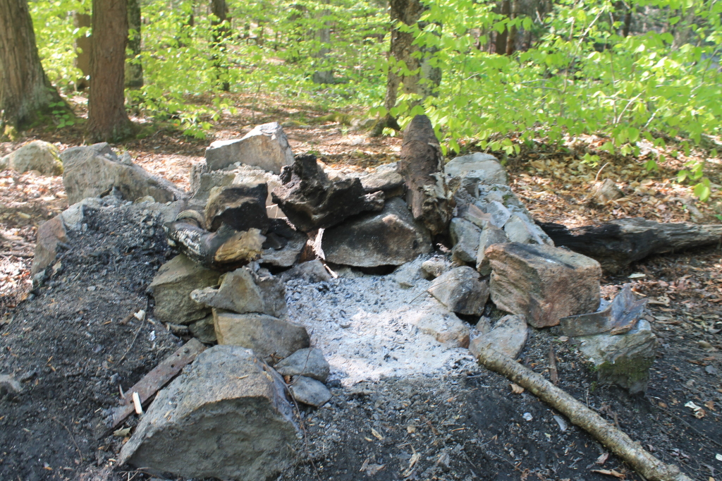 Photo: Fireplace at Bennett Lake