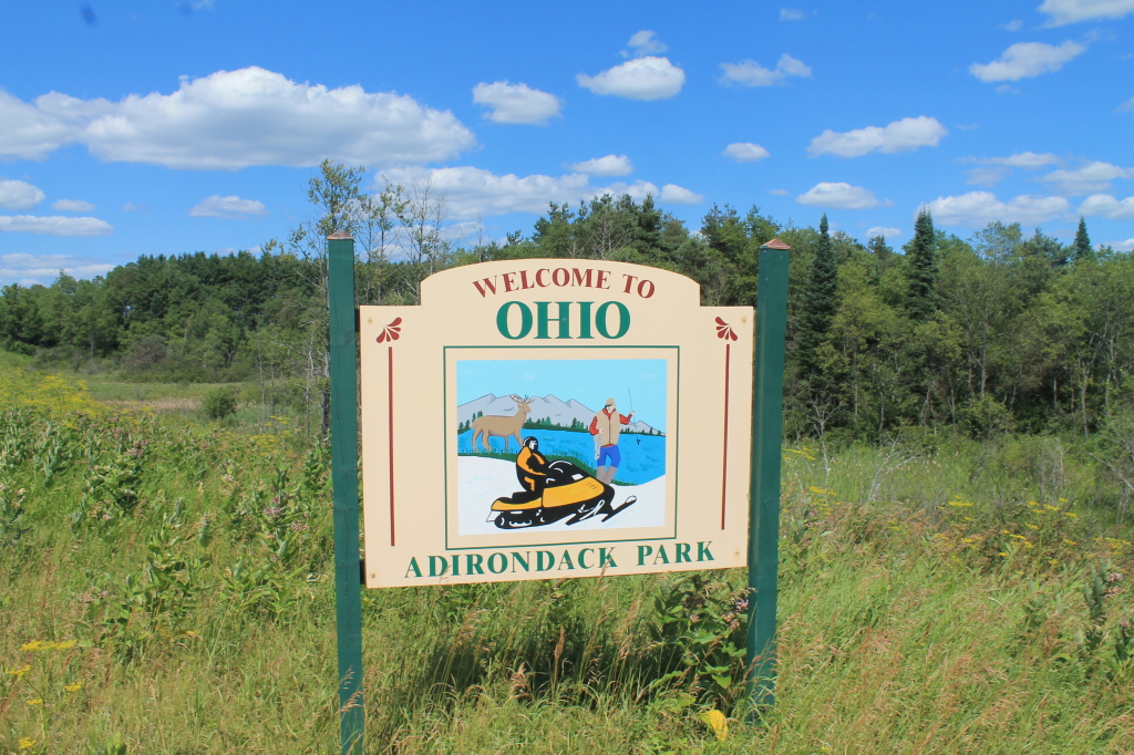 Photo: Welcome to Ohio! (Adirondack Park)