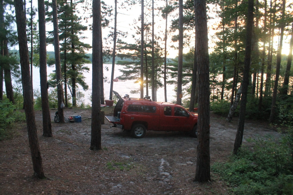 Photo: Campsite with Lake Beyond It