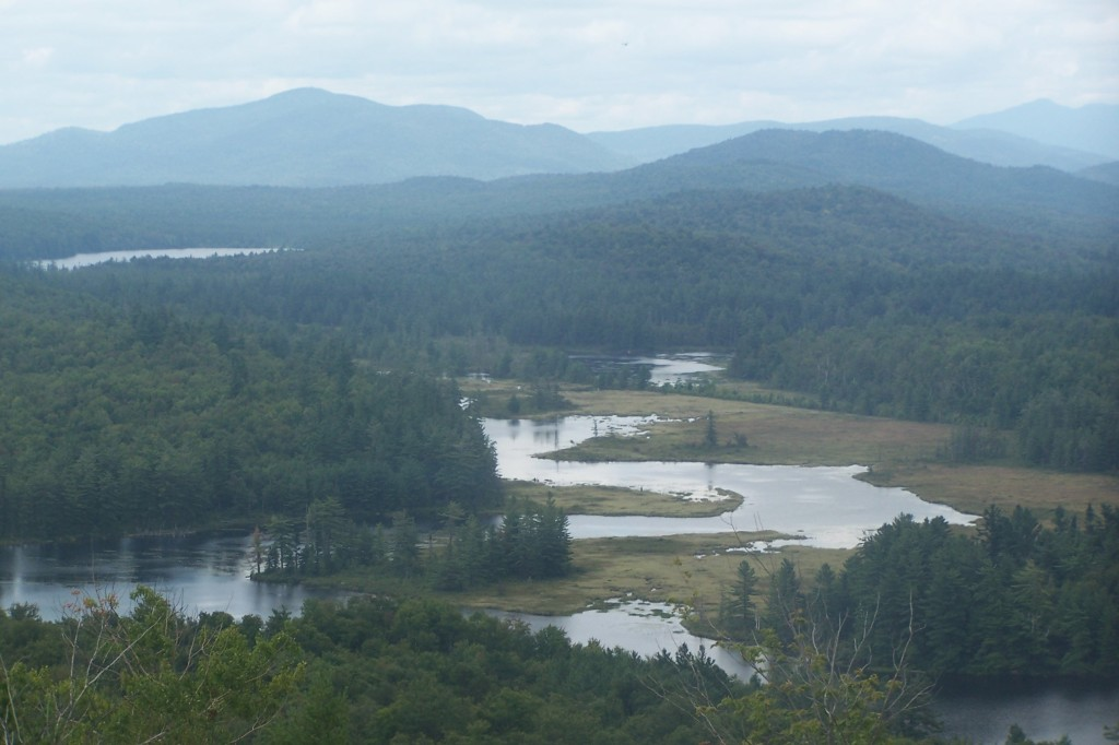 Photo: Bog River Flow with High Peaks in Background