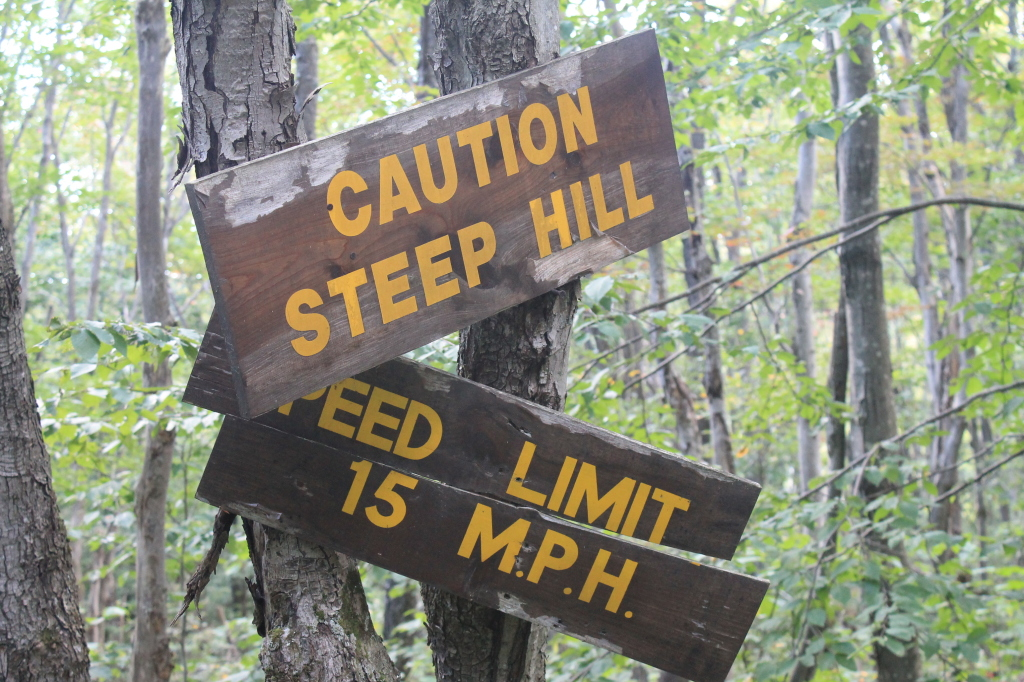 Photo: Caution Steep Hill