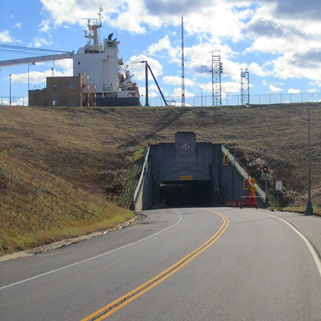 Photo: Have you ever driven under a 28,500 ton Seawaymax ship?