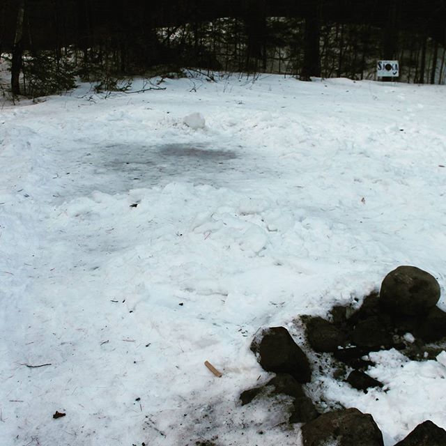 Photo: Dug snow down to ice before pitching tent
