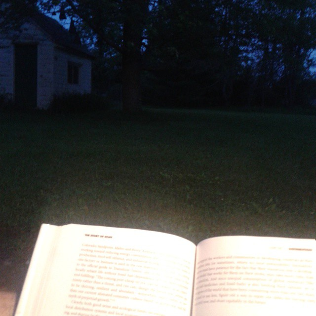 Photo: Reading this first day of summer