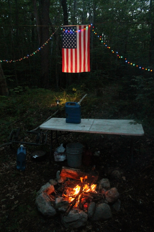 Photo: Fire and Flag