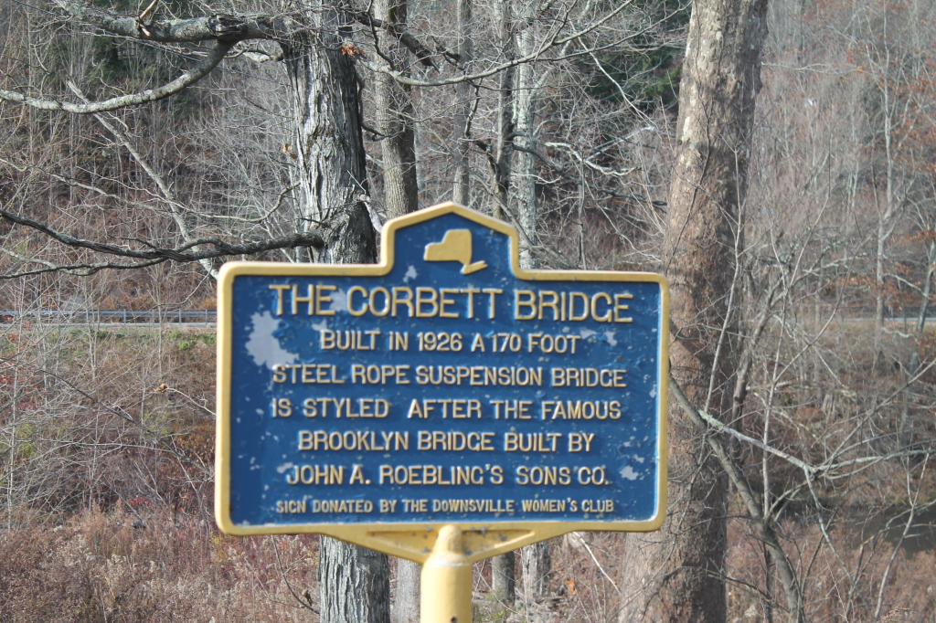 Photo: Corbett Bridge Historical Marker