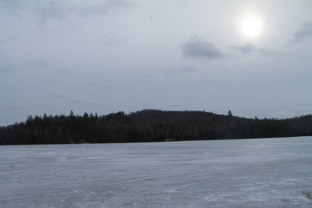 Photo: Lake is Largely Frozen