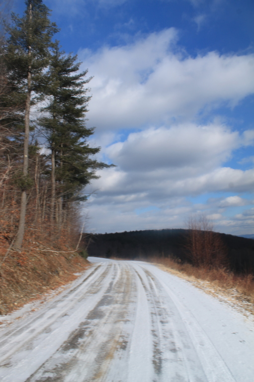 Photo: Somewhat Icy South Mountain Road Near the Clear Cut