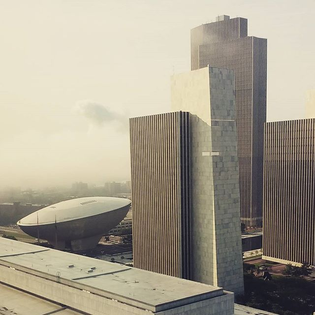 Photo: Fog over the plaza