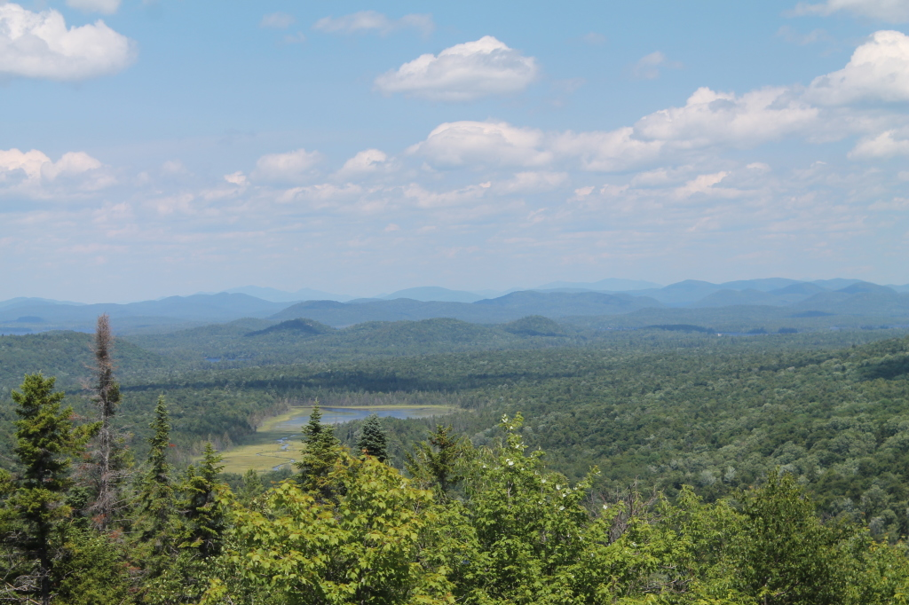 Photo: Lower and Upper Pond from Black Bear Mnt