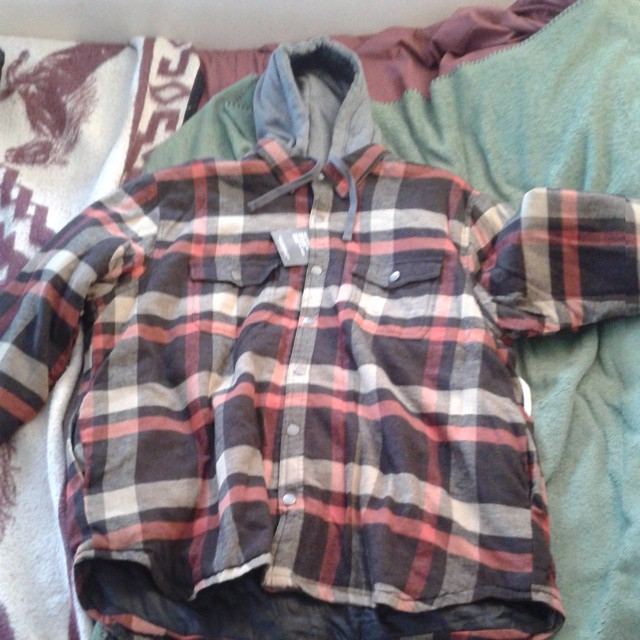 Photo: I got this at @Sears for $9.95. #flannel #cheap #hoodie