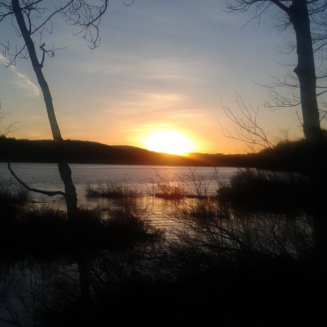Photo: Sunset last night at Long Pond