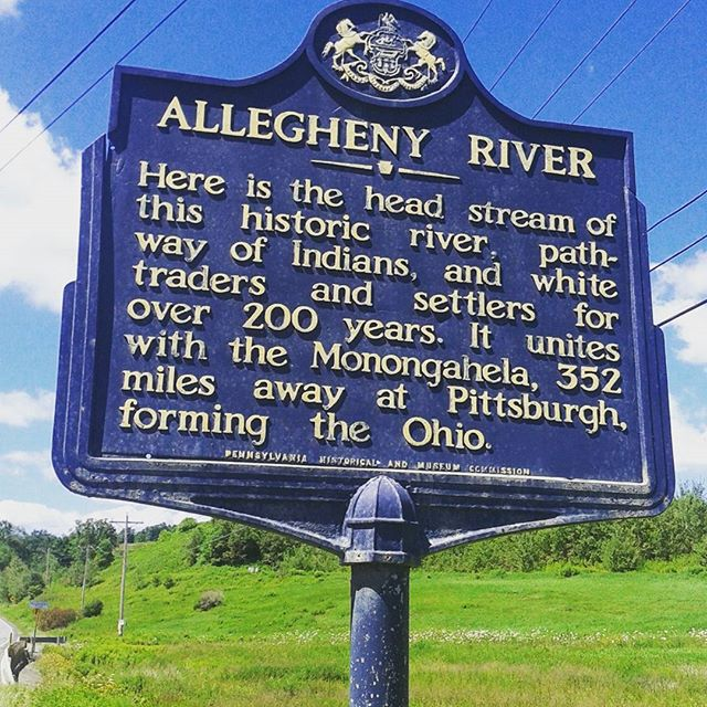 Photo: Start of the Allegheny River
