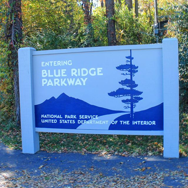 Photo: Entering Blue Ridge Parkway