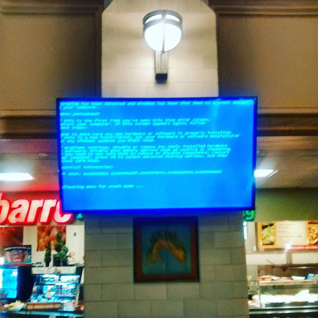 Photo: Blue Screen of Death