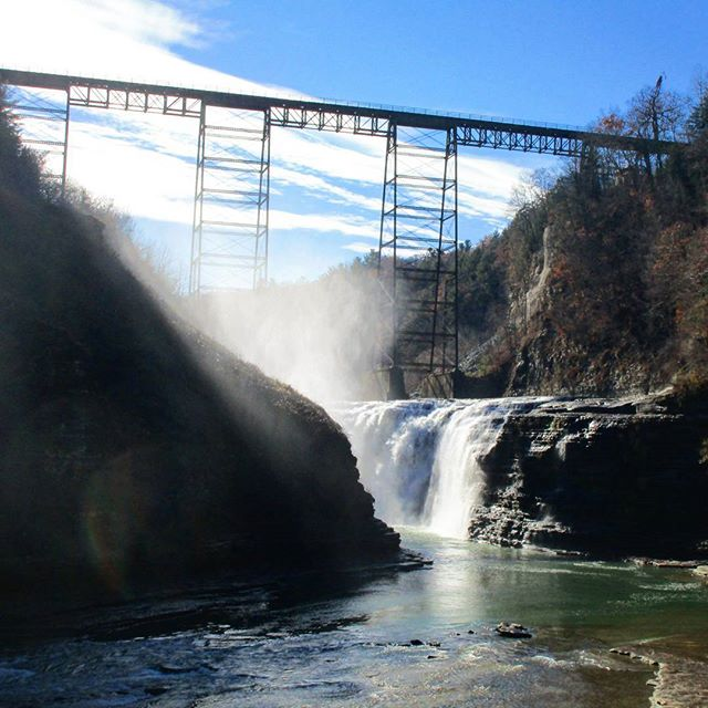 Photo: Soon to be gone Letchworth State Park Bridge