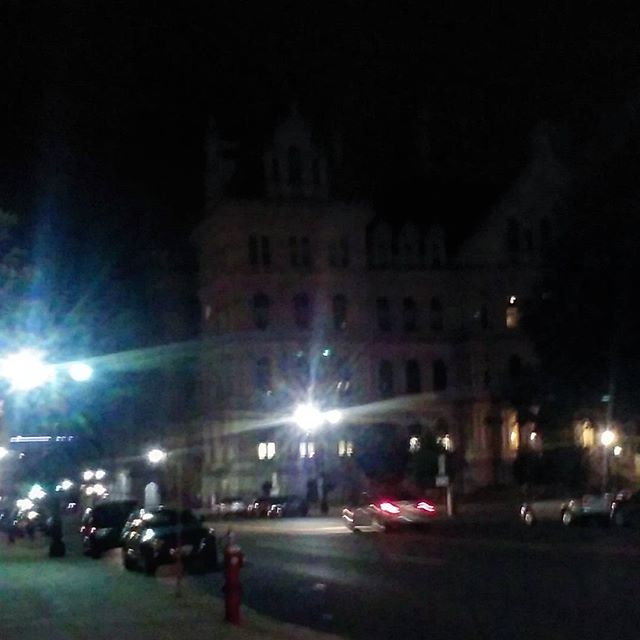Photo: Lights out early at Capitol due to movie night!