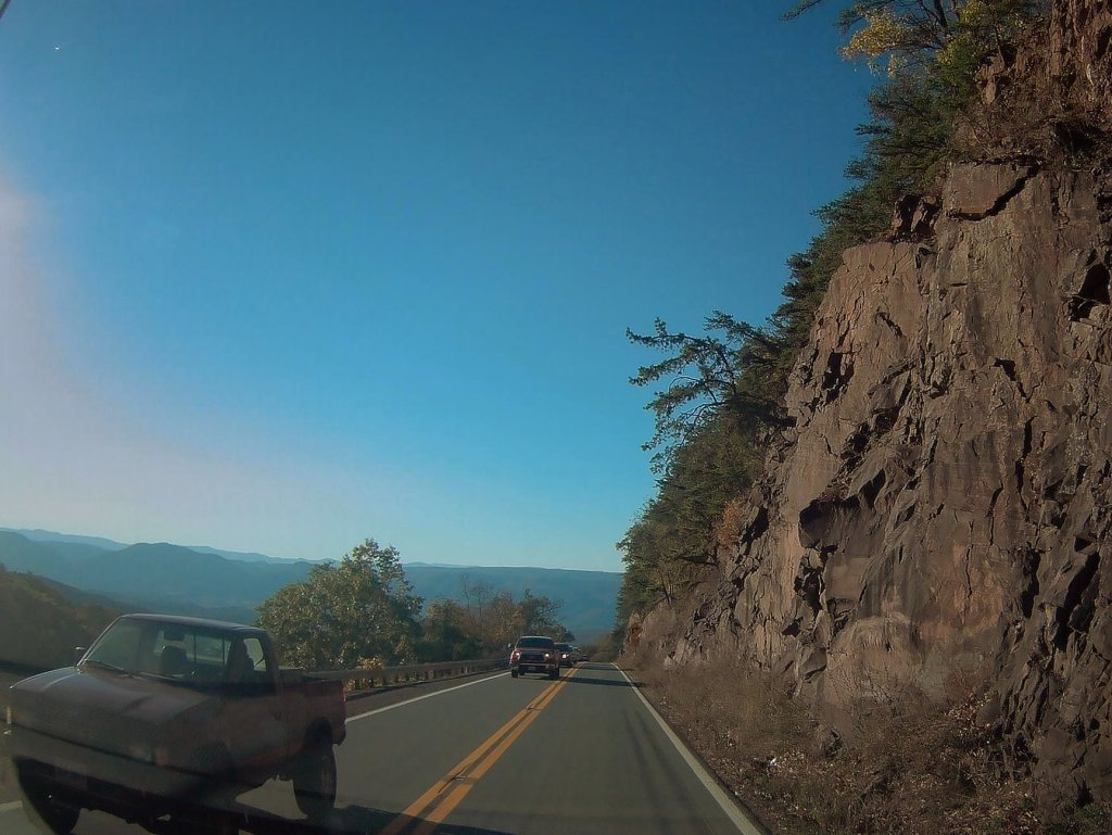 Photo: Rush Hour Heading Down Shenandoah Mountain On US 33
