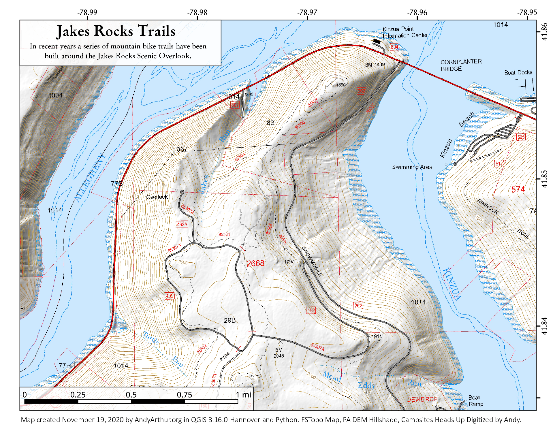 Map Clarion River Irwin Run To Belltown Andy Arthurorg - World river map download