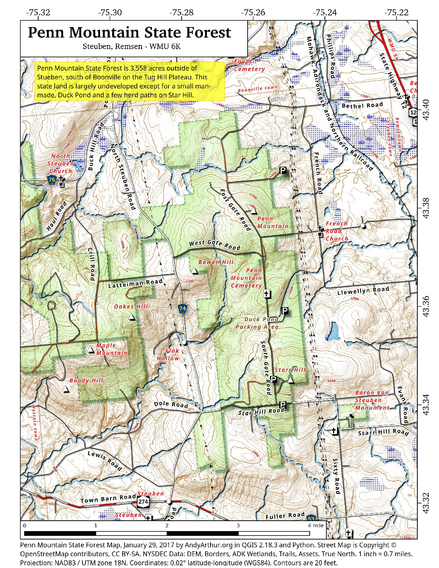 Map Penn Mountain State Forest Andy Arthurorg - Map of penn
