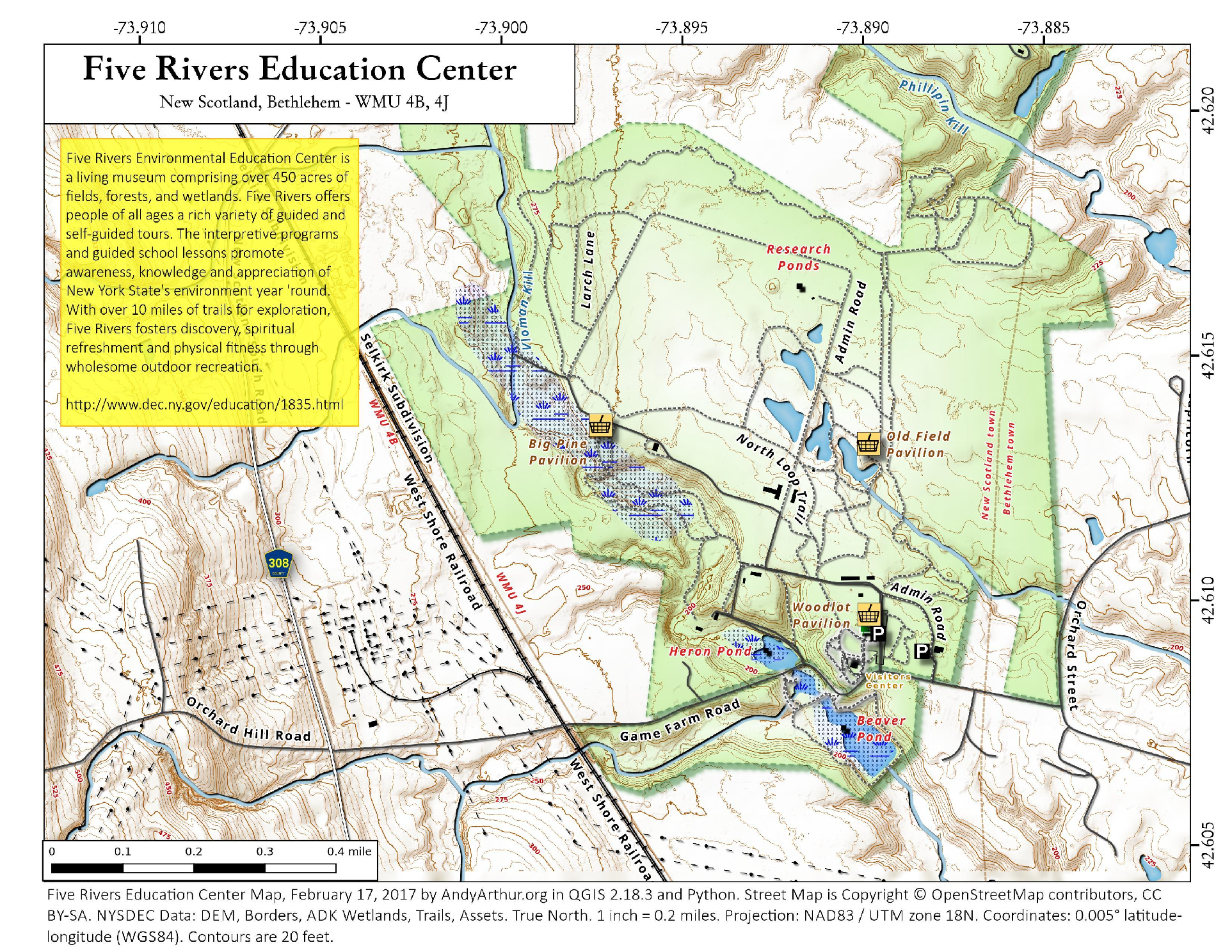 Map five rivers education center andy arthur map gumiabroncs Gallery