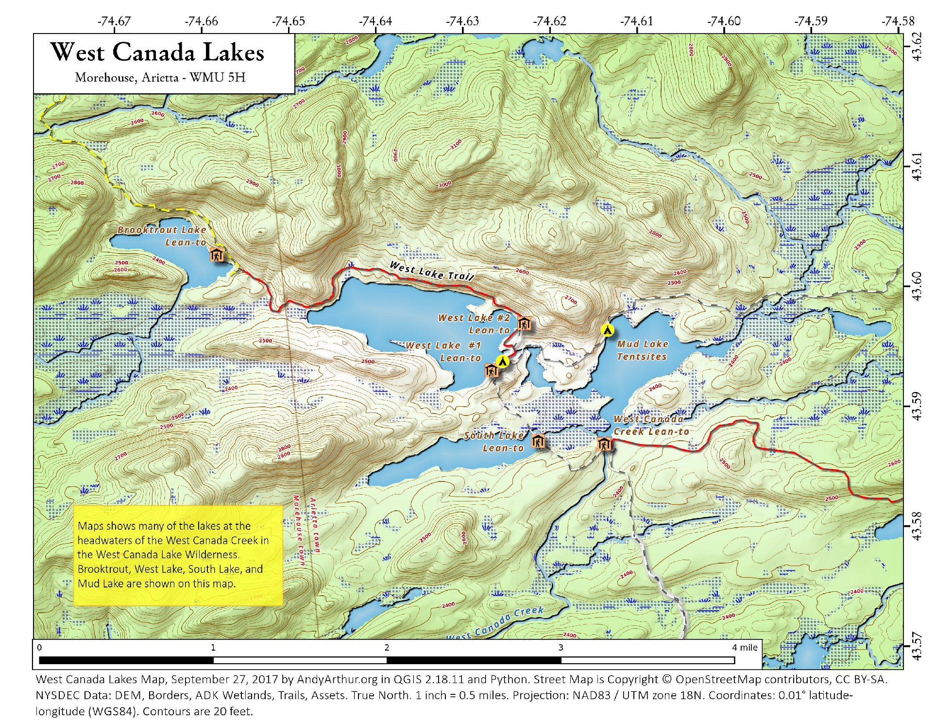 Map West Canada Lakes Andy Arthurorg - Map of canada and lakes