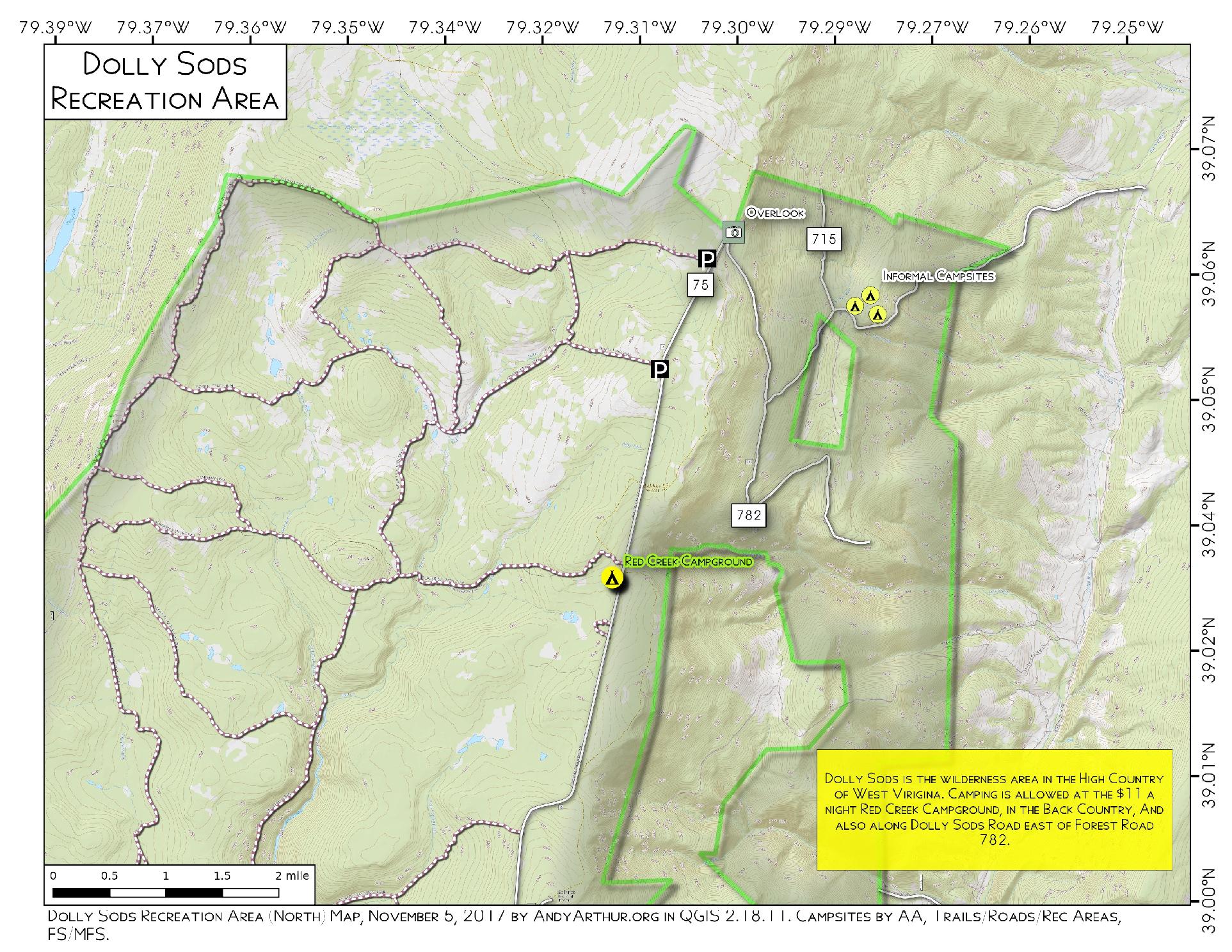 Map: Dolly Sods Recreation Area – Andy Arthur.org