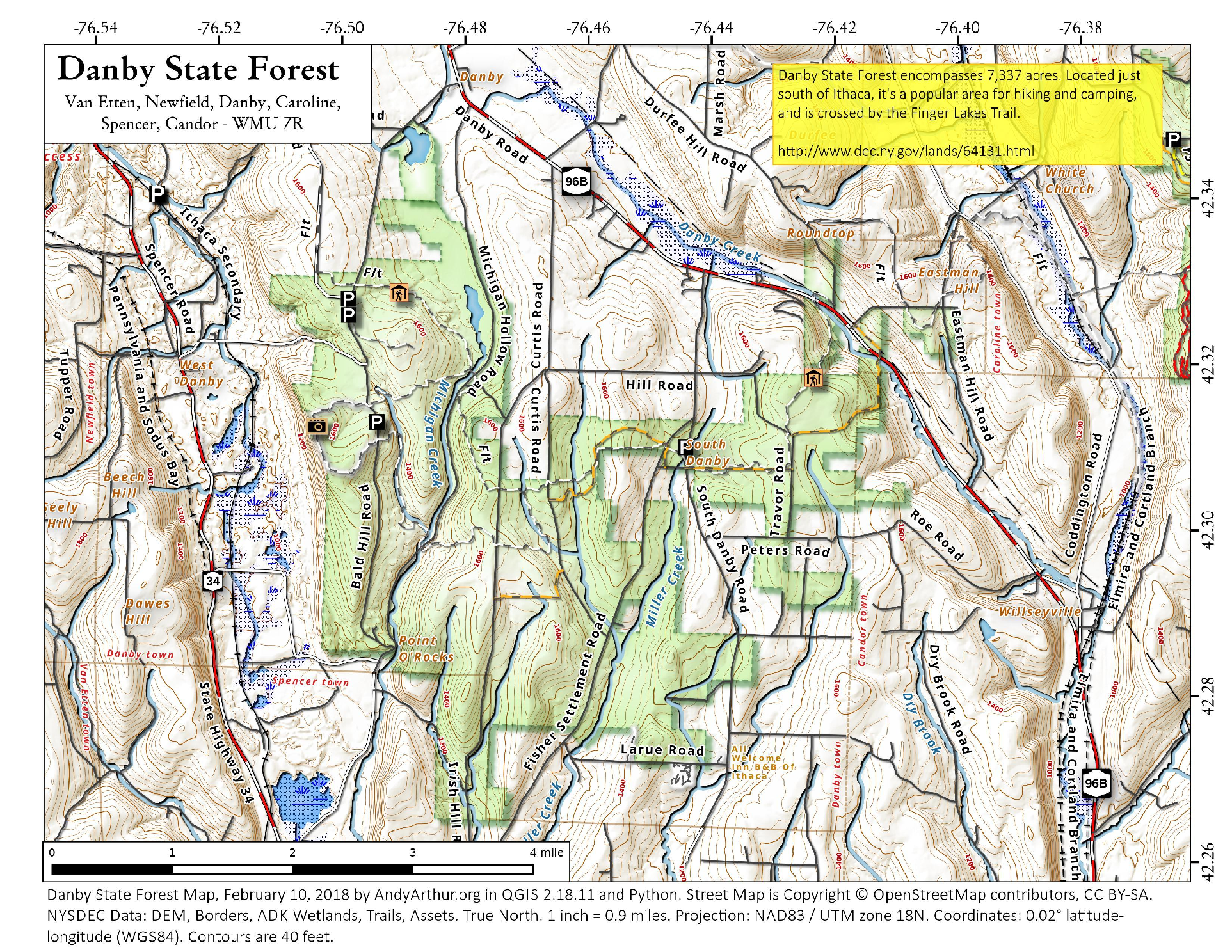 Map: Danby State Forest – Andy Arthur.org