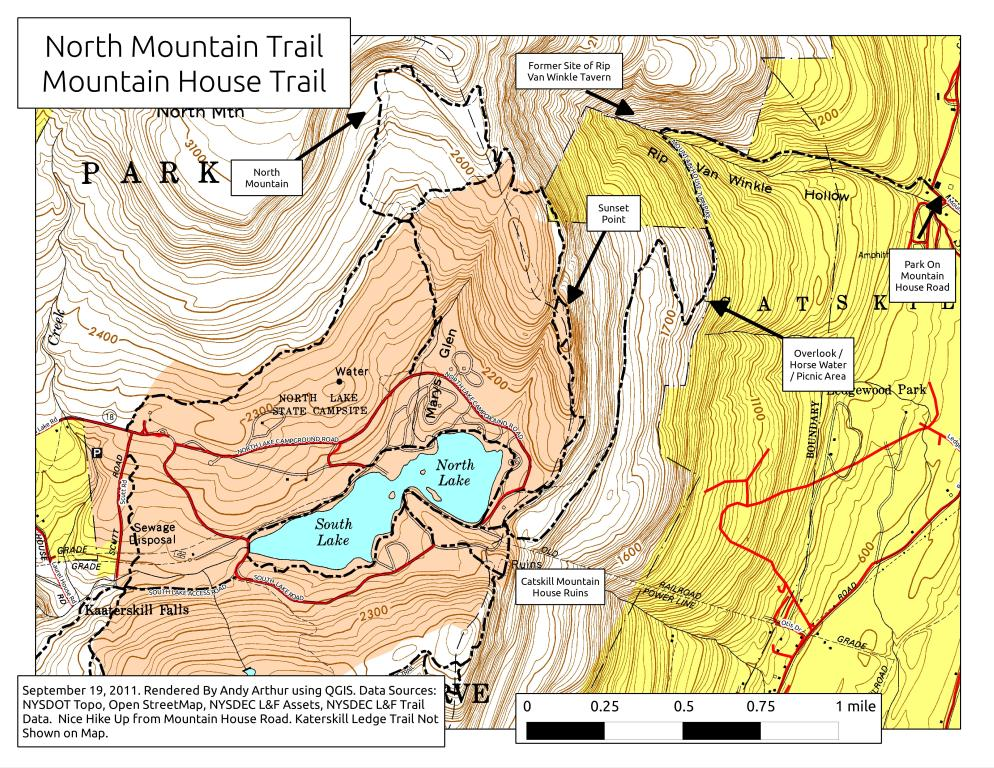 north south lake map Map Mountain House Trail And North Mountain Andy Arthur Org north south lake map
