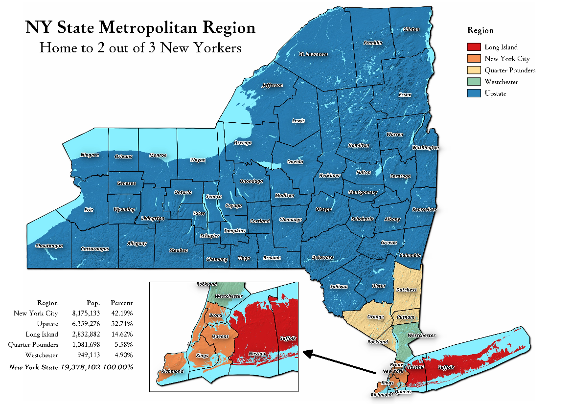 Map Of New York And Quebec.New York State Andy Arthur Org