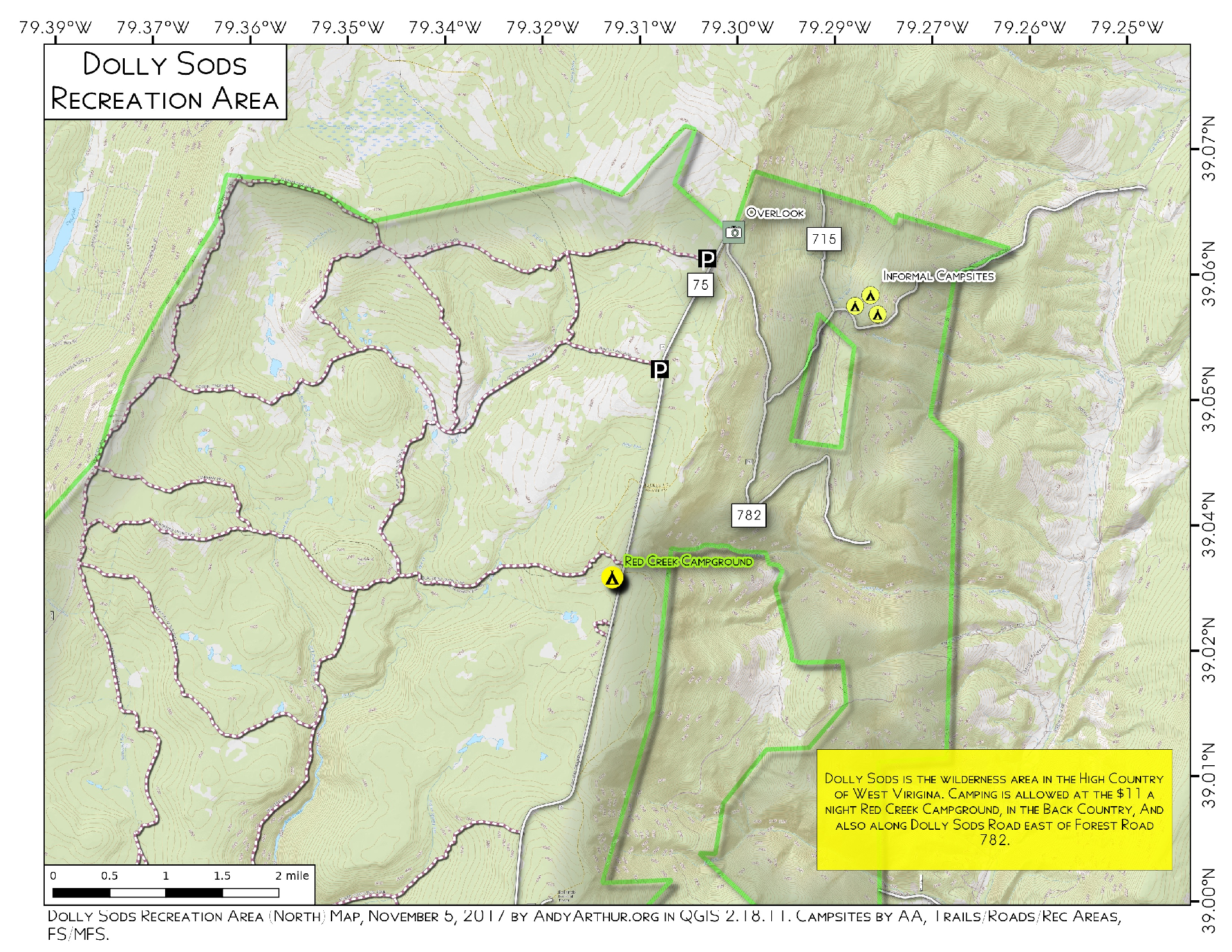 Map: Dolly Sods Recreation Area – Andy Arthur.org