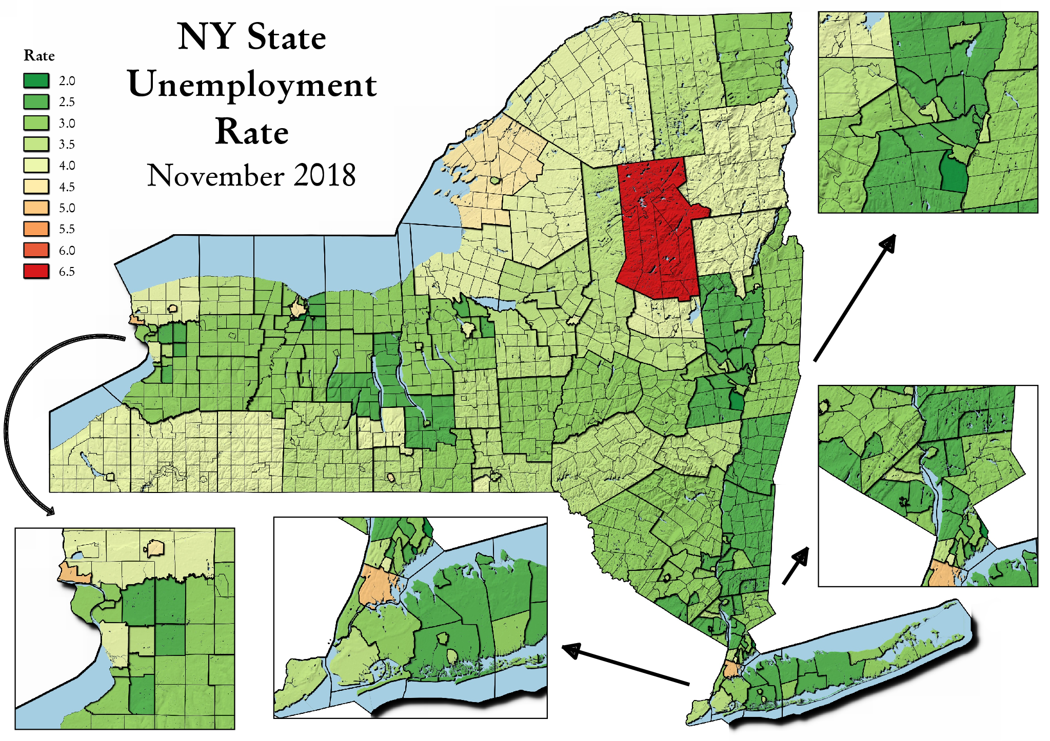 Map: NY State Unemployment Rate – Andy Arthur.org