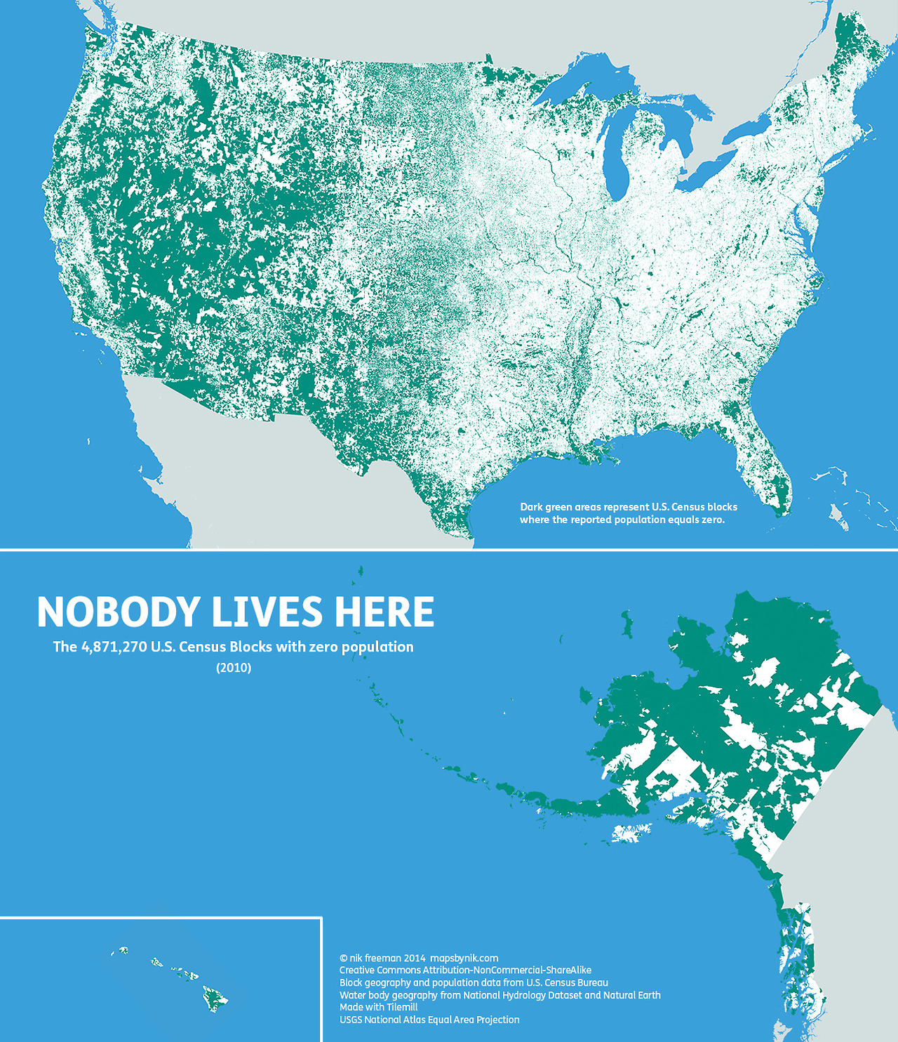 Nobody lives here: The nearly 5 million Census blocks without people…